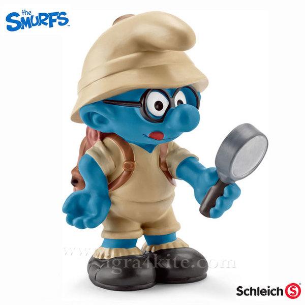 Schleich - Фигурка Смърф Брейни в джунглата 20778