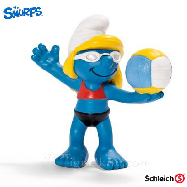 Schleich - Фигурка Смърфиета Плажна волейболистка 20738