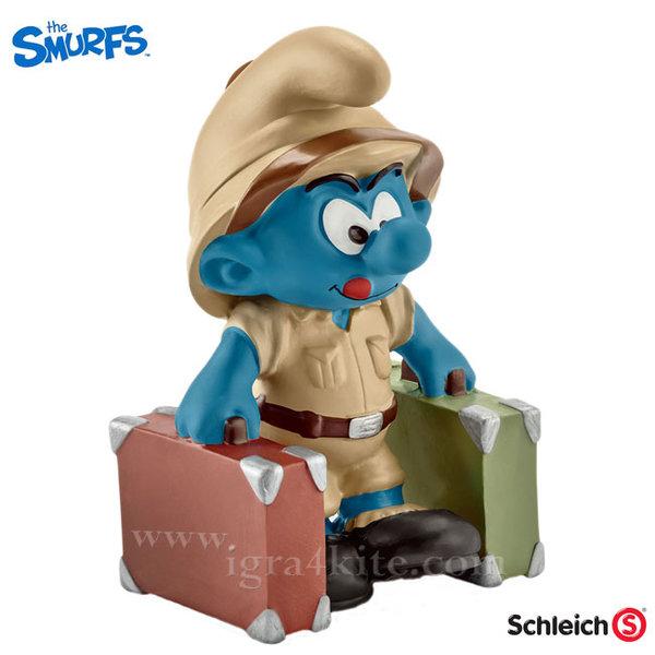 Schleich - Фигурка Смърф Откривател в джунглата 20780