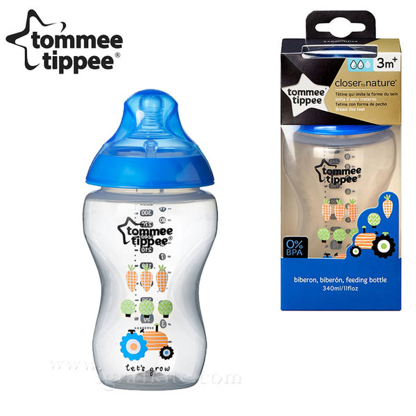 Tommee Tippee - Шише Closer to Nature® easi-vent™ 340 мл. 42269787