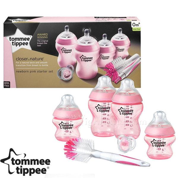 Tommee Tippee - Комплект шишета Easi Vent за новородено + четка за шишета 42356641