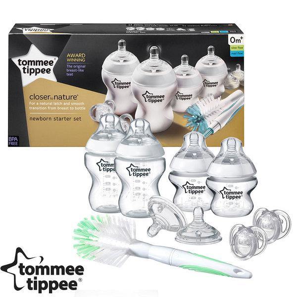 Tommee Tippee - Комплект шишета Easi Vent за новородено + четка за шишета 42357391