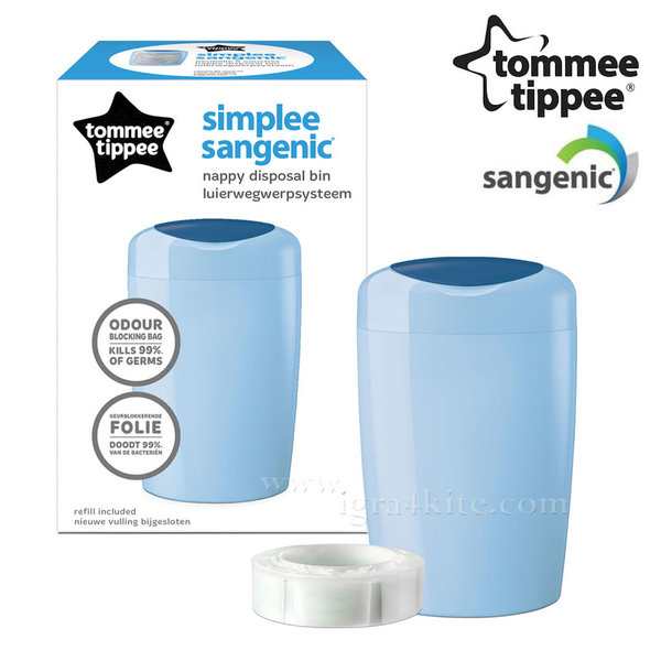 Tommee Tippee - SANGENIC Хигиенен кош за памперси Simplee 87004801