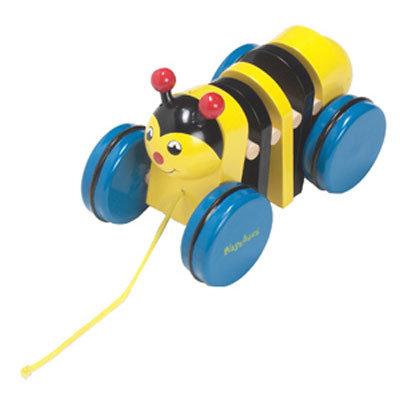 Playshoes - Дървена играчка за дърпане Пчеличка 380202