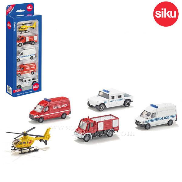 Siku - Комплект превозни средства 5бр. 6289