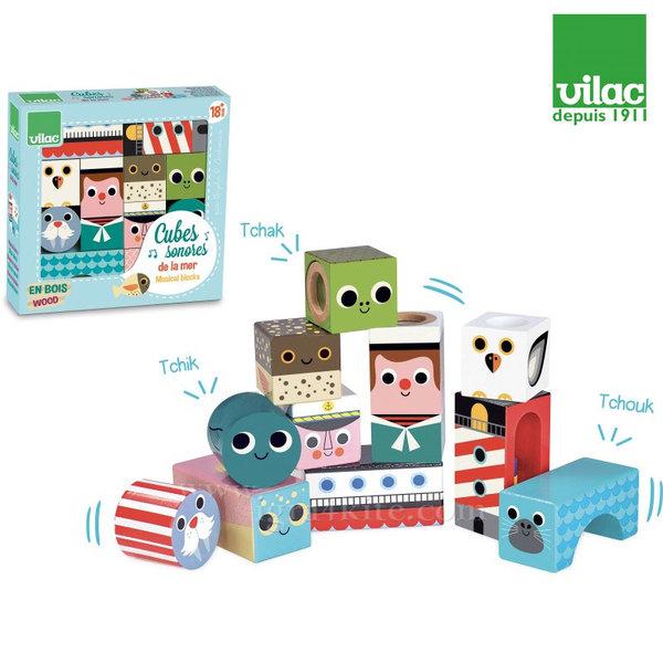 Vilac - Дървени музикални кубчета Море 7718