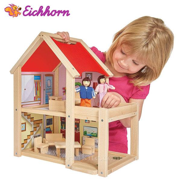 Eichhorn - Дървена къща с кукли 100002501