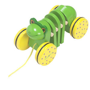 Playshoes - Дървена играчка за дърпане Жаба 380202