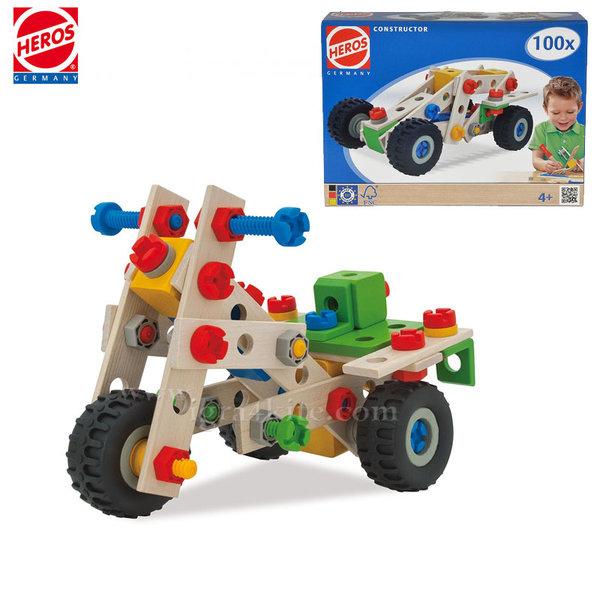 Heros - Дървен конструктор Кола 39028