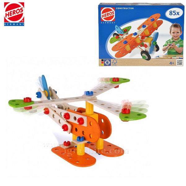 Heros - Дървен конструктор Самолет 39031