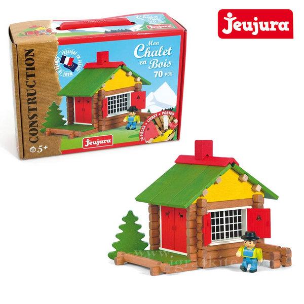 Jeujura - Дървен конструктор Къща j8001
