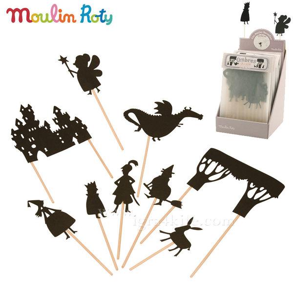 Moulin Roty - Комплект за театър сенки в мрака Приказни герои 711003