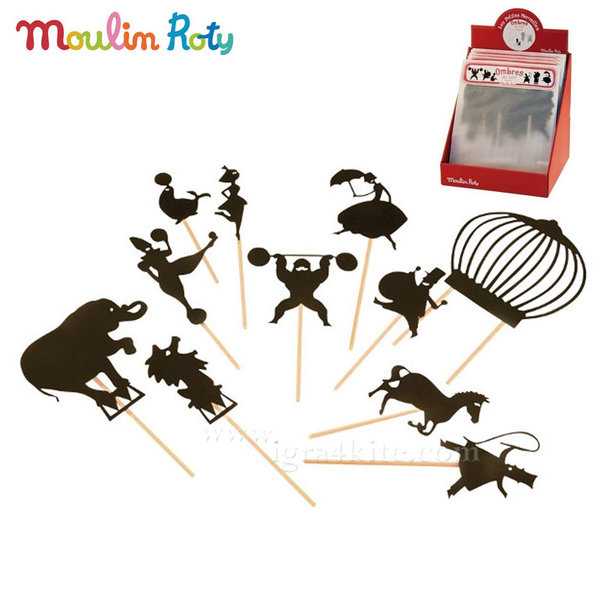 Moulin Roty - Комплект за театър сенки в мрака Цирк 711017
