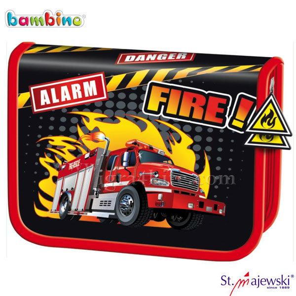 Bambino Premium - Ученически несесер 1цип, празен Fire