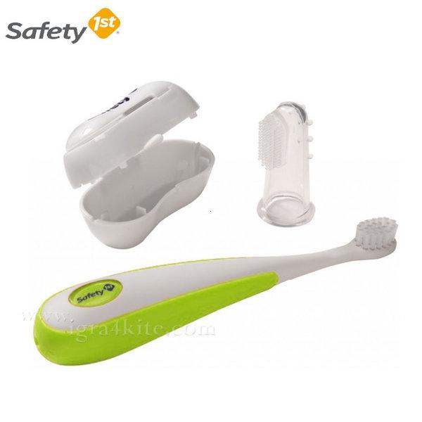 Safety 1st - Комплект четка за зъби и масажор за венци в кутийка 32110151