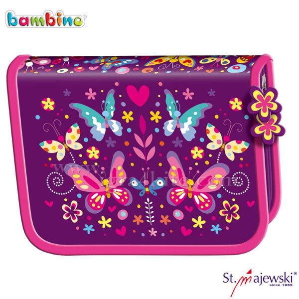 Bambino Premium - Ученически несесер 1 цип празен Flower