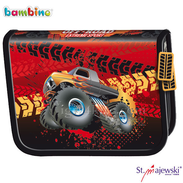 Bambino Premium - Ученически несесер 1 цип празен Monster