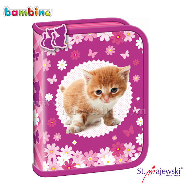 Bambino Premium - Ученически несесер 1 цип празен Cat