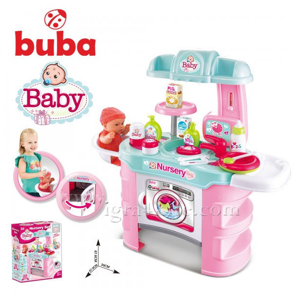 Buba - Детски комплект за кукла Nursery 008-910