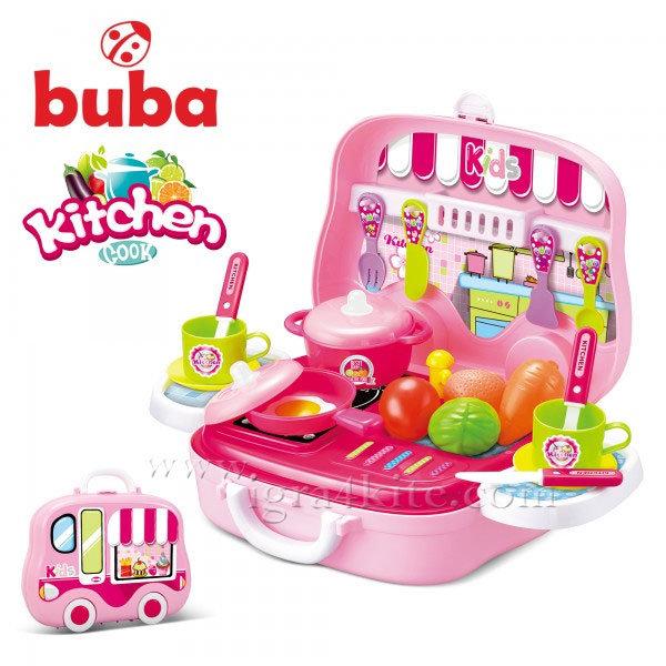 Buba - Детска розова кухня в куфарче Kitchen Cook 008-915