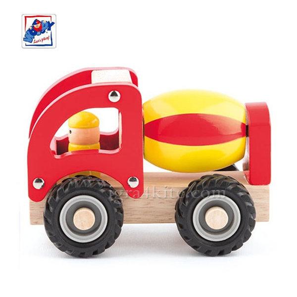 Woody - Дървен детски бетоновоз 91802