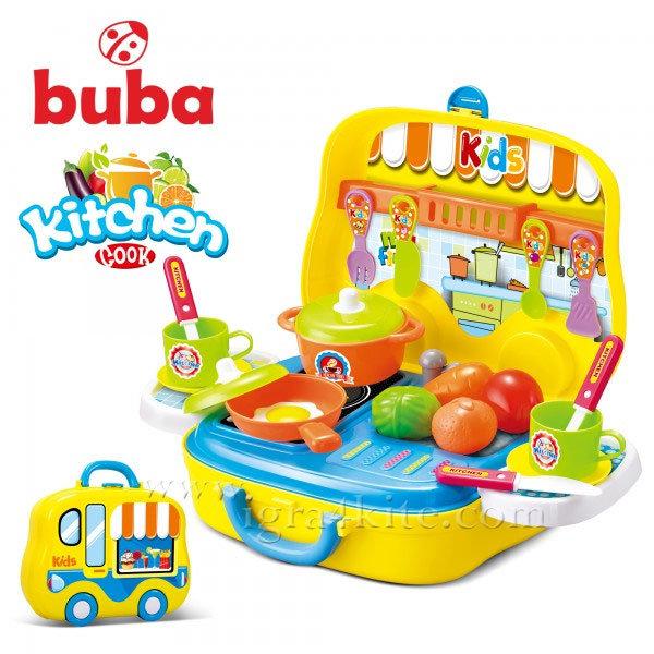 Buba - Детска жълта кухня в куфарче Kitchen Cook 008-919