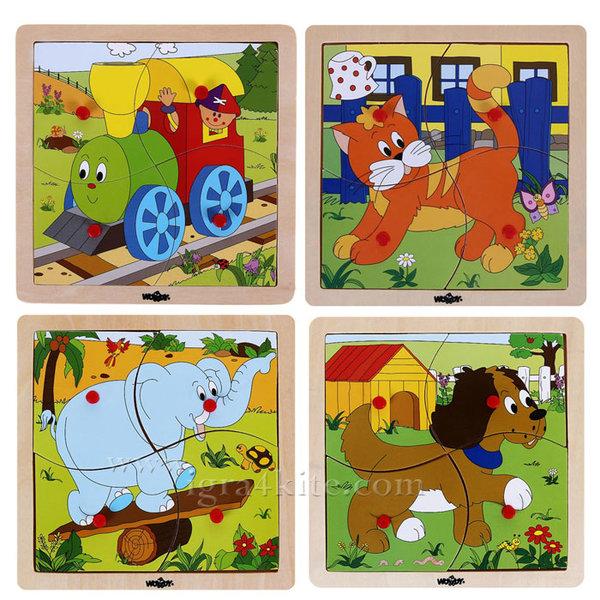 Woody - Дървен детски пъзел в рамка 93017