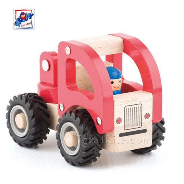 Woody - Дървена детска кола пожарна 91804