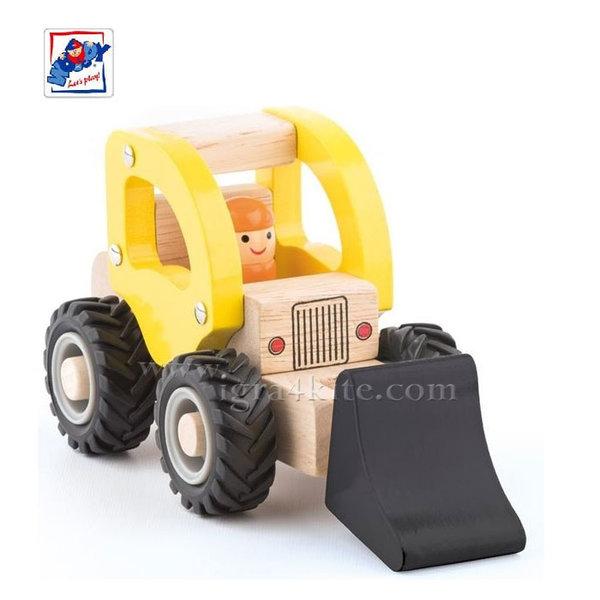 Woody - Дървен детски камион багер 91803