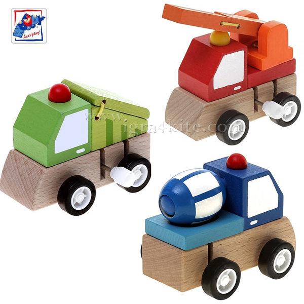 Woody - Дървени колички с механизаъм 90999