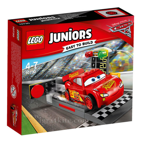 Lego 10730 Juniors Disney - Изстрелване с Маккуин Светкавицата