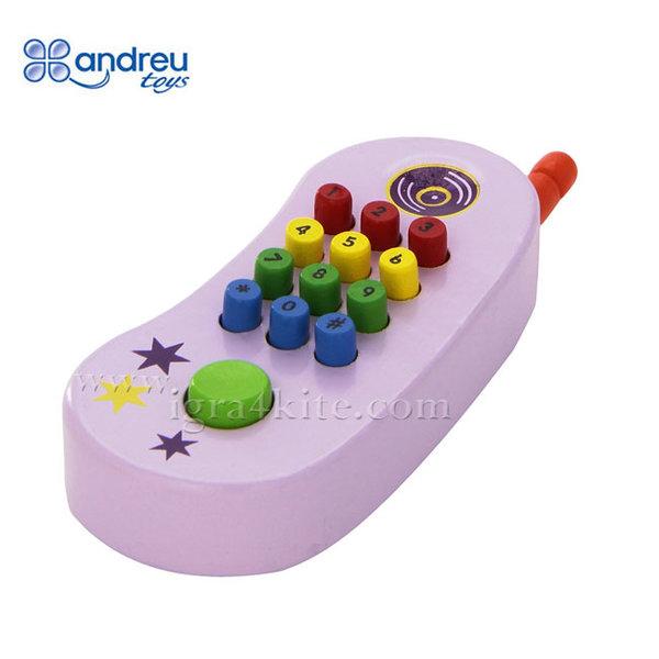 Andreu Toys - Дървено бебешко телефонче 16364