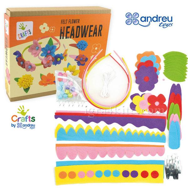 Andreu Toys - Направи сам украшения за коса с цветя 1220161