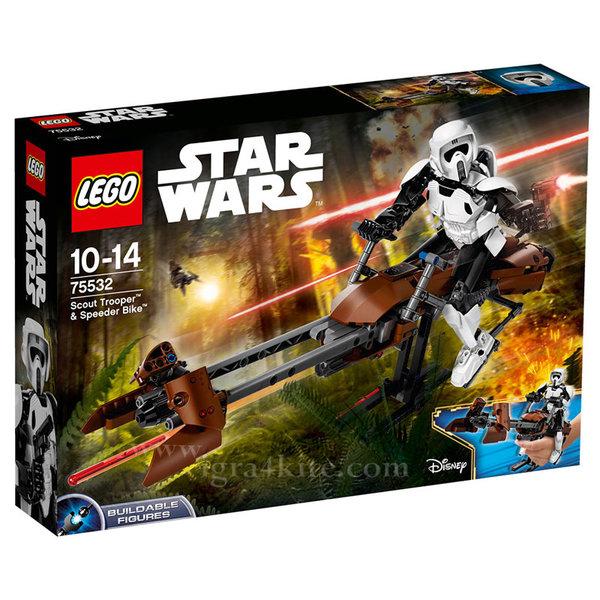 Lego 75532 Star Wars - Скаут трупър™ и скутер