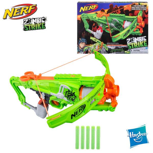 Hasbro Nerf - Нърф Zombie Strike Арбалет Outbreaker Bow B9093