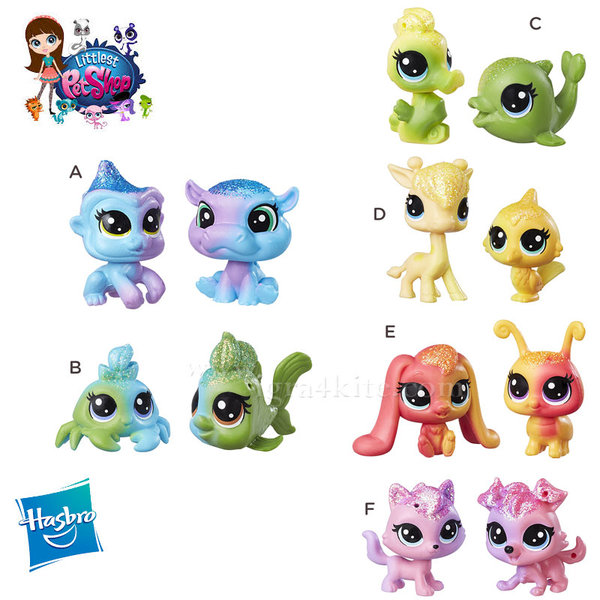 Littlest Pet Shop - Комплект малки домашни любимци 2бр. Rainbow Friends c0794