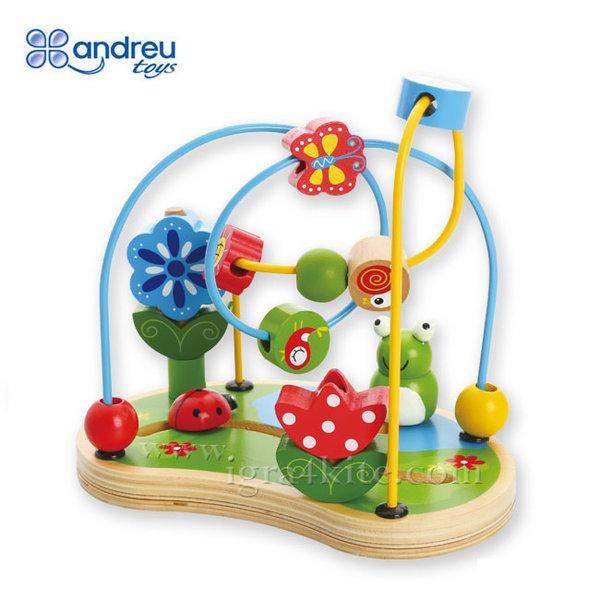 Andreu Toys - Дървена низанка Градина 16422