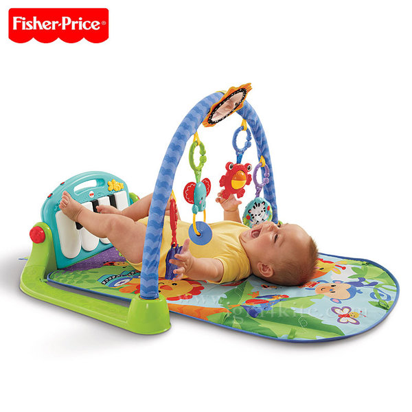 Fisher Price - Активна гимнастика с пиано Kick & Play bmh49/BMD80