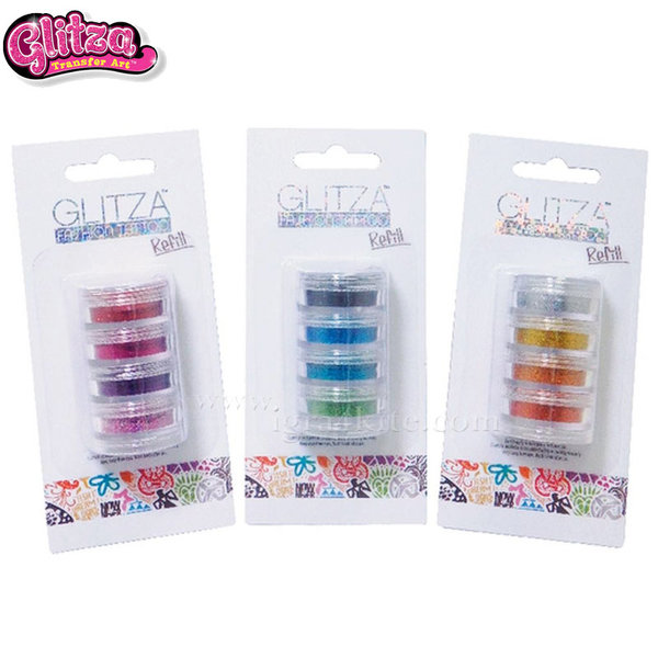 Glitza - Комплект брокати 4 цвята 7804