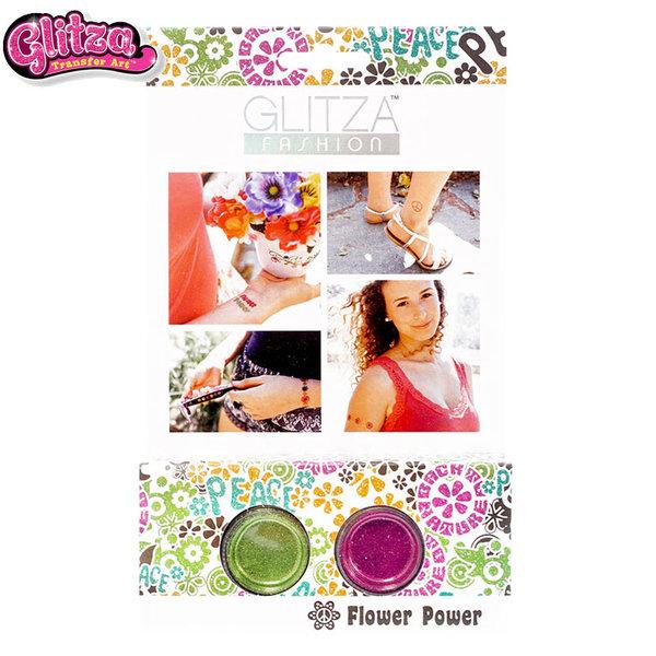 Glitza - Декорации и татуировки с брокат Силата на цветята 7831