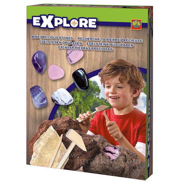 SES Creative Explore - Разкопки Скъпоценни камъни розово-лилави 25048