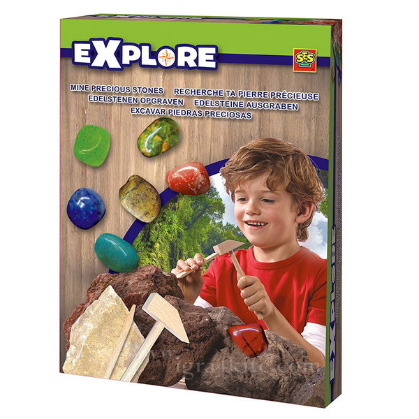 SES Creative Explore - Разкопки Скъпоценни камъни зелено-сини 25047