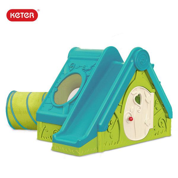 Keter - Детска къща с пързалка и тунел Funtivity 220147