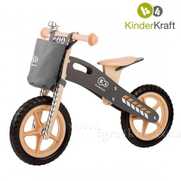 KinderKraft - Дървено колело за балансиране Runner Nature 99224