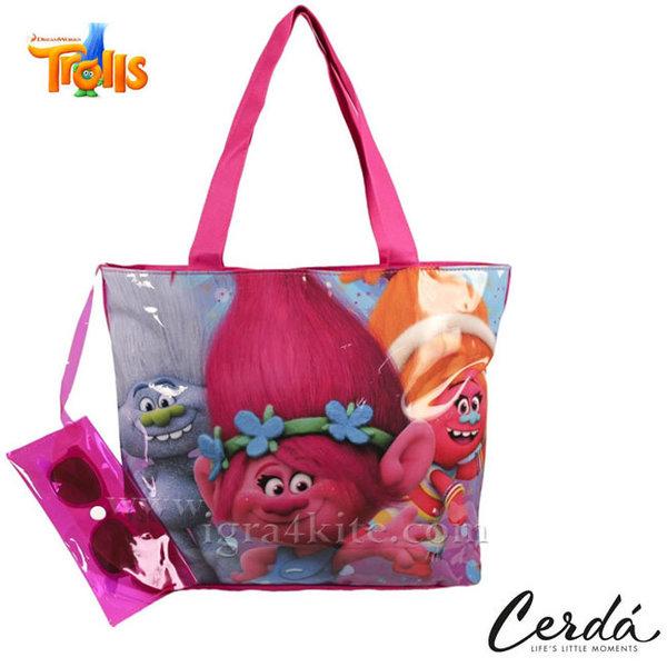 Trolls - Комплект плажна чанта и слънчеви очила Тролчета 0680