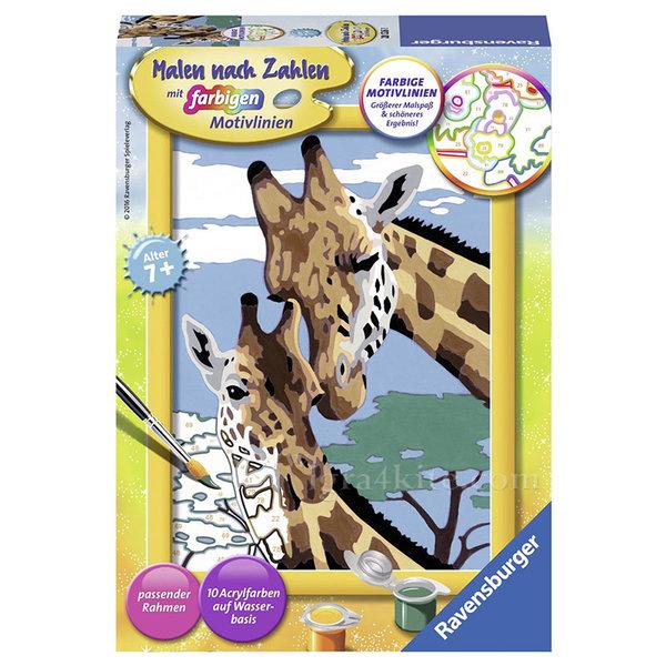 Ravensburger - Рисуване по номера 7+ Жирафи 7028026