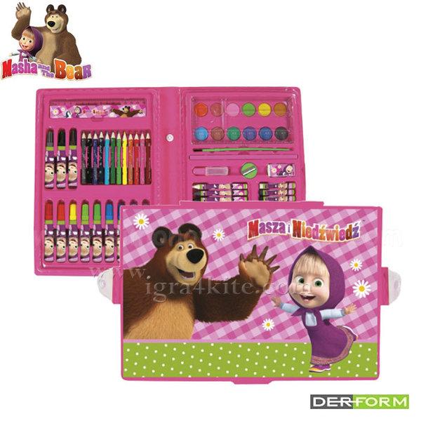 Masha and the Bear - Детски комплект за рисуване Маша и мечока 52479