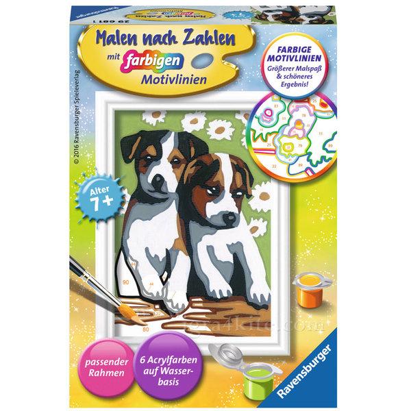 Ravensburger - Рисуване по номера 7+ Малки кученца 7029681