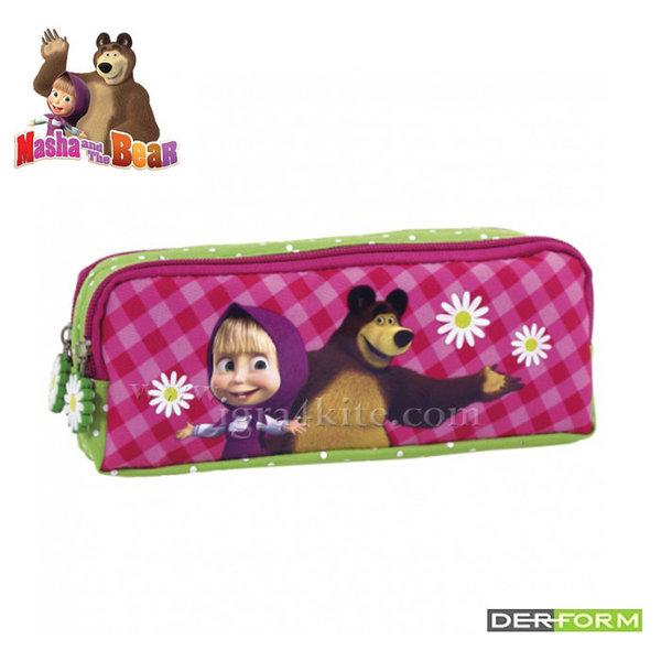 Masha and the Bear - Ученически несесер 2 ципа Маша и мечока 50208