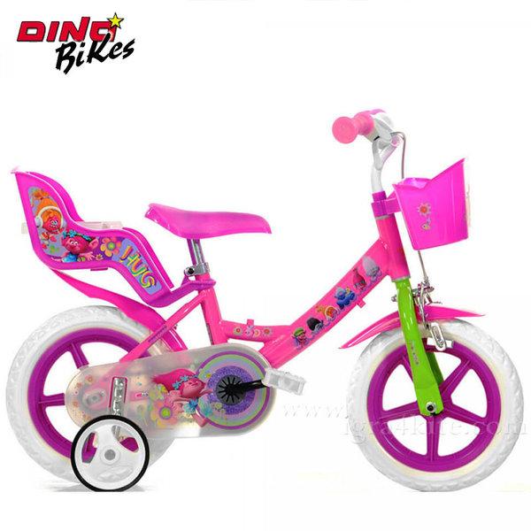"""Dino Bikes Trolls - Детско колело 12"""" Тролчета 117554"""